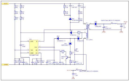 图6.辅助电源设计电路