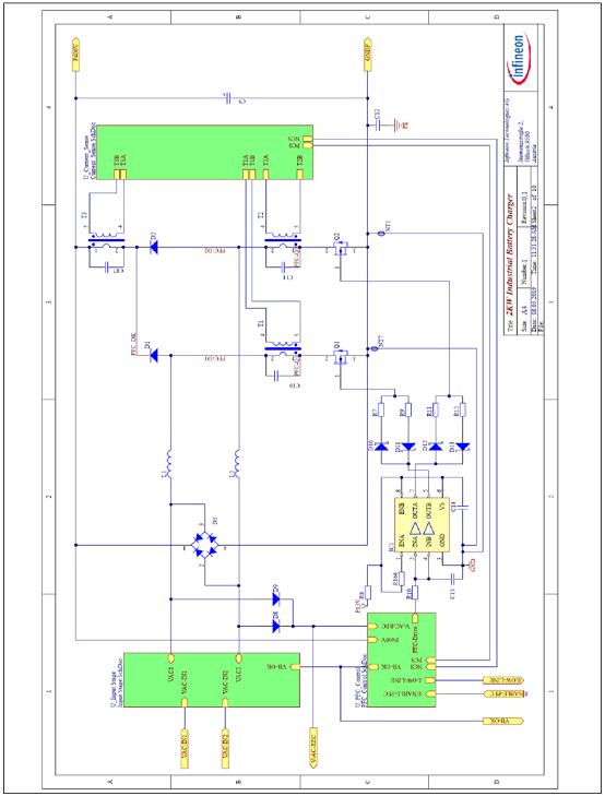 图8.带控制器接口的双PFC升压电路