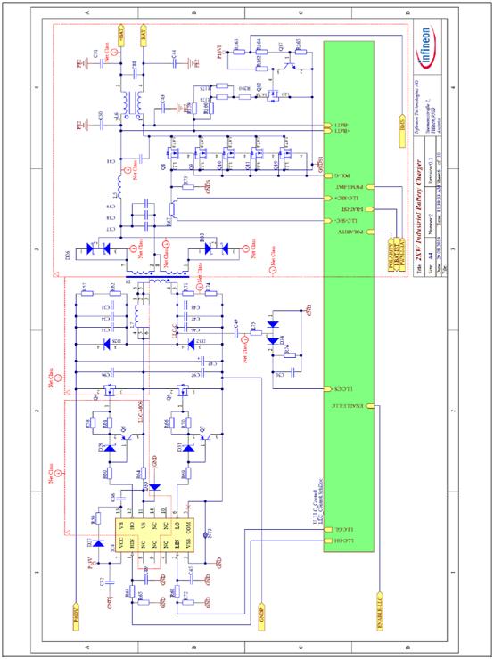 图12. LLC半桥转换器初级和次级电路与控制器接口电路