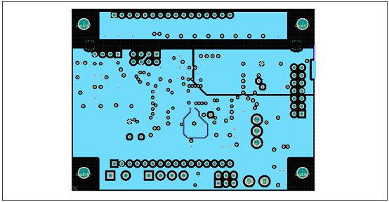 图29. 工业电池48V充电器参考设计控制板PCB设计图:内2层