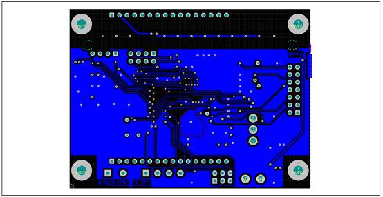 图30. 工业电池48V充电器参考设计控制板PCB设计图:底层